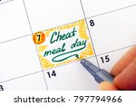 woman hand with pen writing... | Shutterstock . vector #797794966
