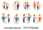 marriage and divorce process... | Shutterstock . vector #797796406