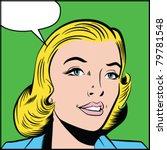 smiling woman   separate dot... | Shutterstock .eps vector #79781548