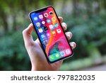 bangkok thailand   iphone x... | Shutterstock . vector #797822035