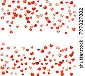 heart border for valentines day ... | Shutterstock .eps vector #797827882