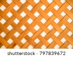 bamboo weave wall background | Shutterstock . vector #797839672