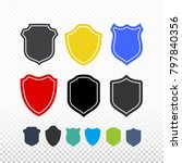 set of shield  guard icon....