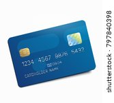 blue credit debit card isolated ... | Shutterstock .eps vector #797840398
