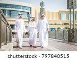 three arabic men bonding... | Shutterstock . vector #797840515