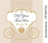 wedding invitation design with... | Shutterstock .eps vector #79784761