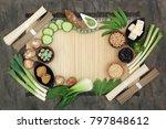 macrobiotic diet food with... | Shutterstock . vector #797848612