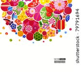 background with floral and... | Shutterstock .eps vector #79791694