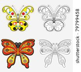 vector set of butterflies for... | Shutterstock .eps vector #79799458