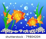 Fun And Colorful  Goldfish In...