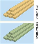 a stack of 2x4  and pressure... | Shutterstock .eps vector #79804513