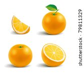 fresh oranges | Shutterstock .eps vector #79811329