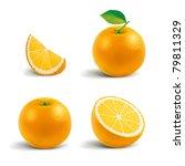 fresh oranges | Shutterstock .eps vector #79811329