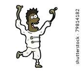cartoon madman | Shutterstock .eps vector #79814182