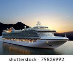 luxury cruise ship sailing from ... | Shutterstock . vector #79826992