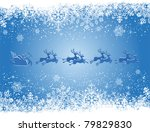 christmas background with santa ... | Shutterstock .eps vector #79829830