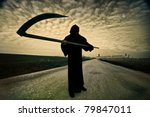 grim reaper on the road | Shutterstock . vector #79847011