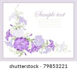 greeting card with petunia .... | Shutterstock .eps vector #79853221