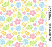 tropical colorful pattern | Shutterstock .eps vector #79858204
