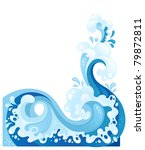 fully editable decorative wave... | Shutterstock .eps vector #79872811