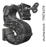 steampunk letter s on white... | Shutterstock . vector #79876378