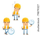 Set Of Funny Cartoon Builder I...
