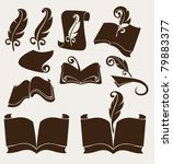 vector collection of old books | Shutterstock .eps vector #79883377