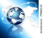 best internet concept of global ... | Shutterstock . vector #79888114