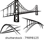 Stock vector set of bridges 79898125