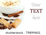cup of coffee and biscuits over ... | Shutterstock . vector #79899601