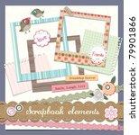scrapbook elements   Shutterstock .eps vector #79901866
