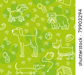 seamless pattern with dogs. | Shutterstock .eps vector #79903294