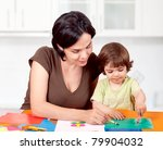 beautiful mother and daughter... | Shutterstock . vector #79904032