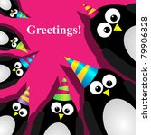 vector greeting card with a... | Shutterstock .eps vector #79906828