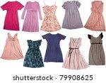 colorful dresses for girls  ... | Shutterstock . vector #79908625