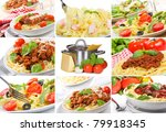 collage with different pasta | Shutterstock . vector #79918345