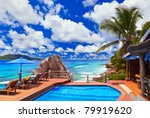 pool at tropical beach  ... | Shutterstock . vector #79919620