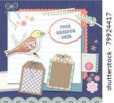 scrapbook elements   Shutterstock .eps vector #79924417