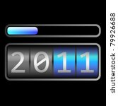 counter end year 2011 eps10   Shutterstock .eps vector #79926688