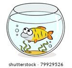illustration of aquarium with... | Shutterstock .eps vector #79929526