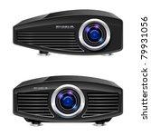 realistic multimedia projector. ...   Shutterstock .eps vector #79931056