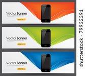 vector website headers  smart... | Shutterstock .eps vector #79932391
