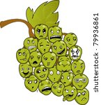 funny grapes in a bunch | Shutterstock .eps vector #79936861