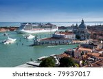 cruise ship in venice | Shutterstock . vector #79937017