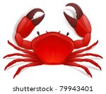 vector red crab, shellfish