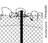 Vector Of Wired Fence With...
