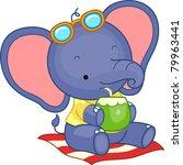 illustration of an elephant... | Shutterstock .eps vector #79963441