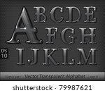 glass alphabet  part 1  | Shutterstock .eps vector #79987621