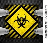 bio hazard sign. vector... | Shutterstock .eps vector #79988674