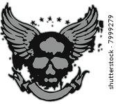 skull flying emblem | Shutterstock .eps vector #7999279